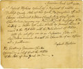 """Autographs:Military Figures, Revolutionary War: Roswell Hopkins Autograph Letter Signed """"Roswell Hopkins,"""" one page, 7.25"""" x 6"""". Amenia, March 25, 17... (Total: 1 Item)"""