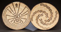 American Indian Art:Baskets, TWO PAPAGO COILED TRAYS. c. 1960 ... (Total: 2 Items)