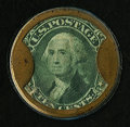 HB-76 EP-105 10¢ Burnett's Cocoaine Extremely Fine