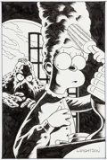 Original Comic Art:Covers, Bernie Wrightson The Simpsons as Swamp Thing House ofSecrets #92 Parody Illustration Original Art (c. 2005)....