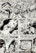 Original Comic Art:Panel Pages, Jack Kirby and Frank Giacoia Fantastic Four #93 Thing vs.Torgo Page 9 Original Art (Marvel, 1969)....