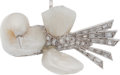 Estate Jewelry:Brooches - Pins, Freshwater Cultured Pearl, Diamond, Platinum Brooch. ...