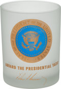 Political:3D & Other Display (1896-present), John F. Kennedy: Presidential Yacht Glass Presidential Gift...