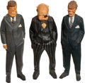 Political:3D & Other Display (1896-present), John F. Kennedy, Robert F. Kennedy, Winston Churchill: Wood-CarvedCaricatures by Gunnarsson.... (Total: 3 Items)