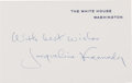Autographs, Jacqueline Kennedy: Engraved White House Card Signed....