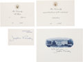 Miscellaneous:Ephemera, Jacqueline Kennedy: White House Engraved Invitations and Cards....