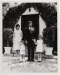Autographs, John F. Kennedy, Jr., and Caroline Kennedy: Kennedy FamilyPhotograph Signed, Easter 1963....