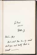 Books:Signed Editions, Robert F. Kennedy: Limited First Edition, To Seek a NewerWorld, Signed, 1967....