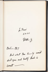 Robert F. Kennedy: Limited First Edition, To Seek a Newer World, Signed, 1967