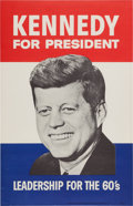 Political:Pinback Buttons (1896-present), John F. Kennedy: Kennedy Campaign Poster, 1960....