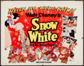 "Movie Posters:Animation, Snow White and the Seven Dwarfs (Buena Vista, R-1958). Half Sheet(22"" X 28""). Animation.. ..."