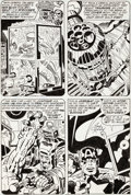 Original Comic Art:Panel Pages, Jack Kirby and Frank Giacoia Captain America #209 Arnim ZolaPage 22 Original Art (Marvel, 1977)....