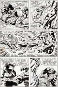 Original Comic Art:Panel Pages, Jack Kirby and Frank Giacoia Fantastic Four #93 Thing vs.Torgo Page 13 Original Art (Marvel, 1969)....