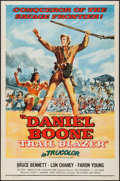 "Movie Posters:Adventure, Daniel Boone, Trail Blazer & Other Lot (Republic, 1956). OneSheets (2) (27"" X 41""). Adventure.. ... (Total: 2 Items)"