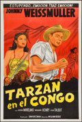 "Movie Posters:Adventure, Fury of the Congo (Columbia, 1951). Argentinean Poster (29"" X 43"").Adventure.. ..."