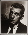 "Movie Posters:Miscellaneous, Humphrey Bogart by George Hurrell (1940s). Limited EditionAutographed Portrait Photo (16"" X 20""). Miscellaneous.. ..."