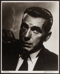 "Humphrey Bogart by George Hurrell (1940s). Limited Edition Autographed Portrait Photo (16"" X 20""). Miscellaneo..."