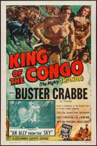 """King of the Congo (Columbia, 1952). One Sheet (27"""" X 41"""") Chapter 11 -- """"An Ally from the Sky."""" Seri..."""