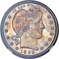 Barber Quarters, 1892-S 25C MS66 NGC. CAC....