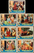 "Movie Posters:Bad Girl, Reform School Girl (American International, 1957). Lobby Cards (7)(11"" X 14""). Bad Girl.. ... (Total: 7 Items)"