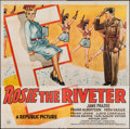 """Movie Posters:Musical, Rosie the Riveter (Republic, 1944). Six Sheet (79"""" X 79""""). Musical.. ..."""