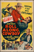 """Movie Posters:Western, Roll Along, Cowboy (Guaranteed Pictures, R-1940s). One Sheet (27"""" X41""""). Western.. ..."""