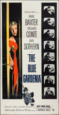 """Movie Posters:Crime, The Blue Gardenia (Warner Brothers, 1953). Three Sheet (41"""" X 79"""").Crime.. ..."""