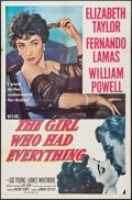 "Movie Posters:Romance, The Girl Who Had Everything (MGM, 1953). One Sheet (27"" X 41""). Romance.. ..."