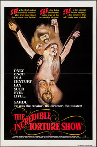"""The Incredible Torture Show (AFDC, 1976). One Sheet (27"""" X 41""""). Horror"""