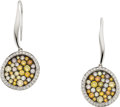 Estate Jewelry:Earrings, Colored Diamond, White Gold Earrings. ...