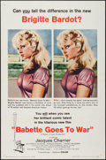 "Movie Posters:Comedy, Babette Goes to War (Columbia, 1960). One Sheet (27"" X 41""). Comedy.. ..."