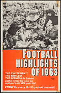 "Movie Posters:Sports, Football Highlights of 1963 (Universal, 1963). One Sheet (26.5"" X 40.5""). Sports.. ..."