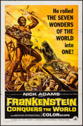 """Movie Posters:Horror, Frankenstein Conquers the World (American International, 1966). One Sheet (27"""" X 41""""). Horror.. ..."""