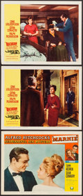 """Movie Posters:Hitchcock, Marnie & Others Lot (Universal, 1964). Lobby Cards (3) (11"""" X 14"""") & One Sheet (27"""" X 41""""). Hitchcock.. ... (Total: 4 Items)"""