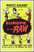 "Movie Posters:Sexploitation, Europe in the Raw (William Mishkin Motion Pictures Inc., 1963).Day-Glo Silk Screen One Sheet (28"" X 42""). Sexploitation.. ..."