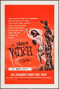 "The Naked Witch (Alexander Enterprises, 1961). One Sheet (27"" X 41""). Horror"