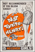 "Movie Posters:Sexploitation, Not Tonite, Henry (Foremost Films, 1961). One Sheet (28"" X 41"").Sexploitation.. ..."