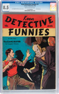 Golden Age (1938-1955):Adventure, Keen Detective Funnies #9 (Centaur, 1938) CGC VF+ 8.5 Cream to off-white pages....