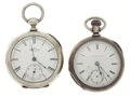 Timepieces:Pocket (pre 1900) , Waltham & Illinois 18 Key Wind Pocket Watches. ... (Total: 2Items)