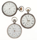 Timepieces:Pocket (post 1900), Three Pocket Watches For Parts Or Repair. ... (Total: 3 Items)