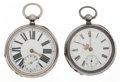 Timepieces:Pocket (pre 1900) , Swiss & English Key Wind Pocket Watches. ... (Total: 2 Items)