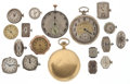 Timepieces:Other , An Assortment of Fifteen Gent's & Lady's Wristwatch Movements,Two Pocket Watch Movements & One Pocket Watch. ... (Total: 18Items)