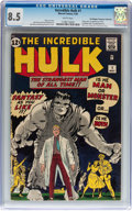Silver Age (1956-1969):Superhero, The Incredible Hulk #1 Don/Maggie Thompson Collection pedigree(Marvel, 1962) CGC VF+ 8.5 White pages....