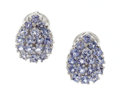 Estate Jewelry:Earrings, Tanzanite, White Gold Earrings. ...