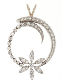 Diamond, White Gold Pendant