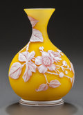 Art Glass:Webb, THOMAS WEBB OVERLAY GLASS BUTTERCUP VASE. Circa 1900. 5 inches high(12.7 cm). ...