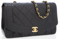 Luxury Accessories:Bags, Chanel Black Lambskin Leather Medium Single Flap Bag with GoldHardware. . ...