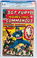 Silver Age (1956-1969):Superhero, Sgt. Fury and His Howling Commandos #13 (Marvel, 1964) CGC NM 9.4 Cream to off-white pages....