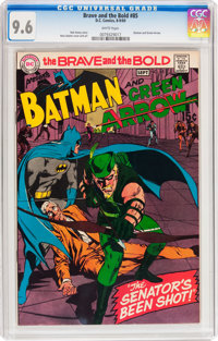 The Brave and the Bold #85 Batman and Green Arrow (DC, 1969) CGC NM+ 9.6 White pages