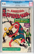 Silver Age (1956-1969):Superhero, The Amazing Spider-Man #16 (Marvel, 1964) CGC NM 9.4 Off-white towhite pages....